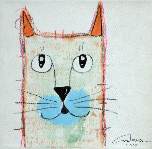 安恰娜‧恰麗亞琶朋-(NEW)白色謝列:寵愛貓咪 #3S