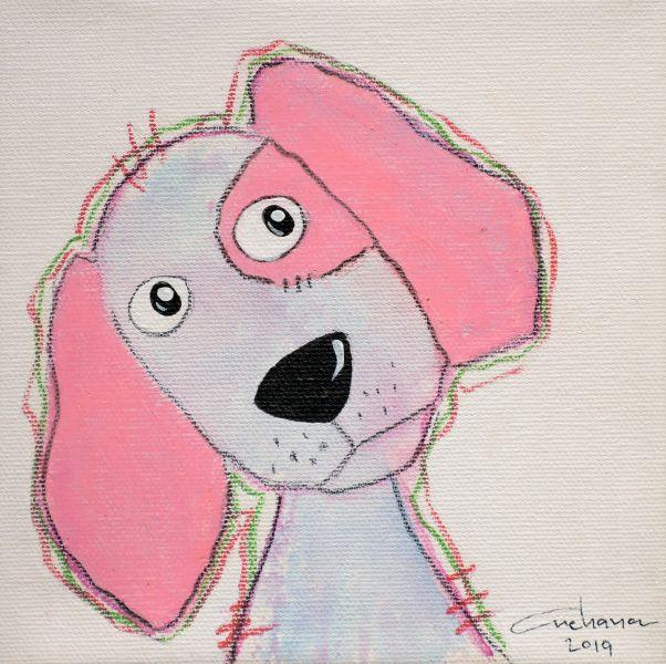 安恰娜‧恰麗亞琶朋-(NEW)白色系列:寵愛狗狗 #4S
