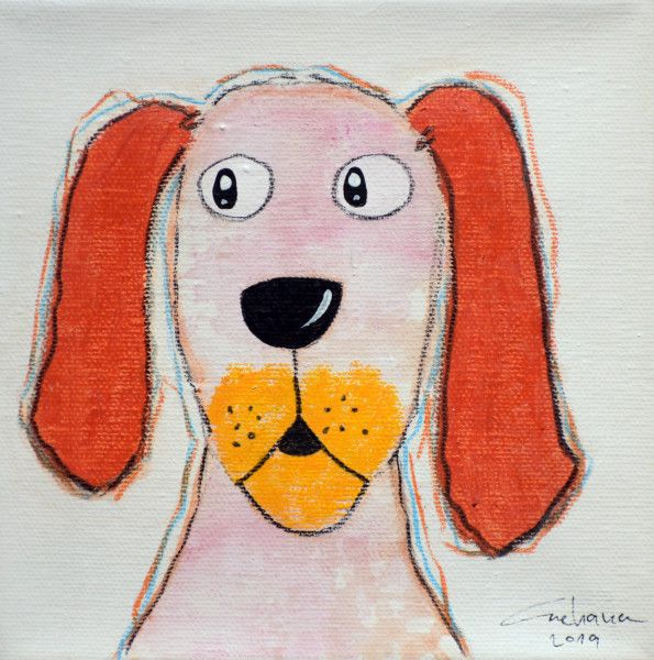 安恰娜‧恰麗亞琶朋-(NEW)白色系列:寵愛狗狗 #1S