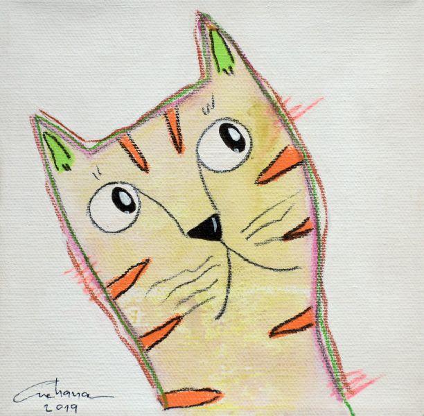 安恰娜‧恰麗亞琶朋-(NEW)白色系列:寵愛貓咪 #2S