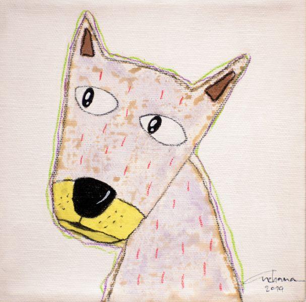 安恰娜‧恰麗亞琶朋-(NEW)白色系列:寵愛狗狗 #11S