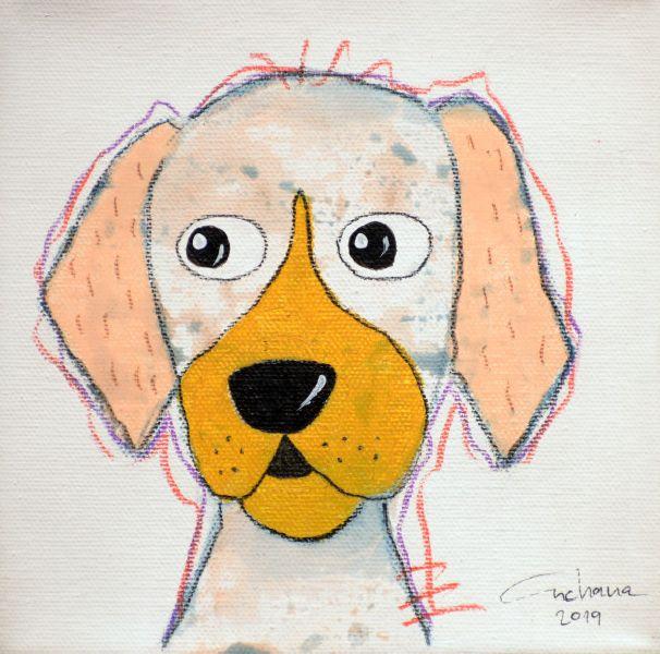 安恰娜‧恰麗亞琶朋-(NEW)白色系列:寵愛狗狗 #8S