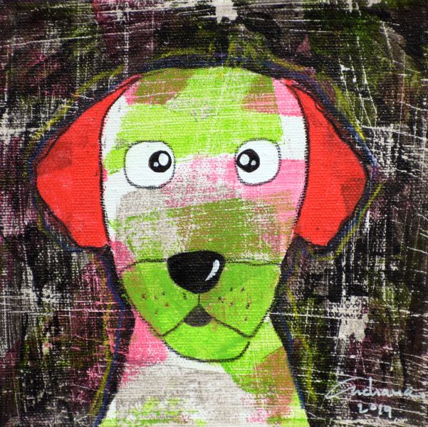 安恰娜‧恰麗亞琶朋-(NEW)黑色系列:寵愛狗狗 #2S