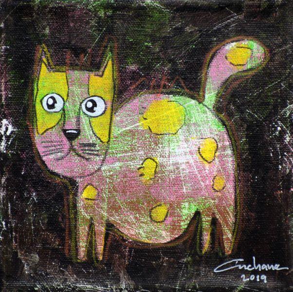 安恰娜‧恰麗亞琶朋-(NEW)黑色系列:寵愛貓咪 #3S
