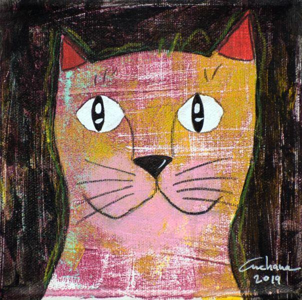 安恰娜‧恰麗亞琶朋-(NEW)黑色系列:寵愛貓咪 #2S