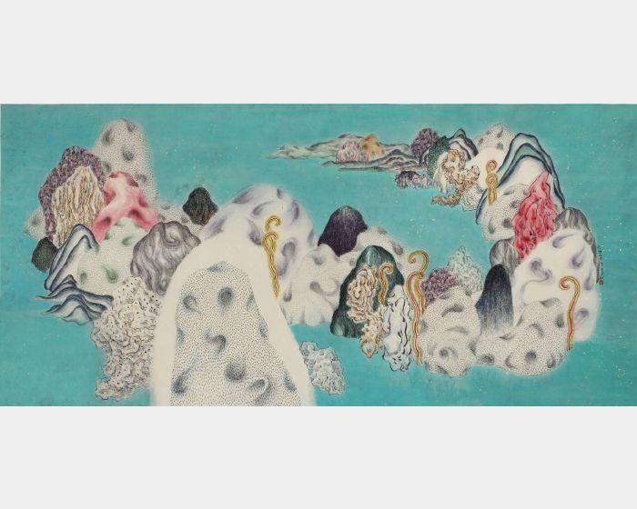袁慧莉-類山水no.44:春    Ambiguous WorldSeries no.44 : Spring