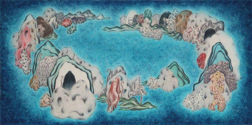 袁慧莉-類山水no.46:秋    Ambiguous WorldSeries no.46 : Autumn
