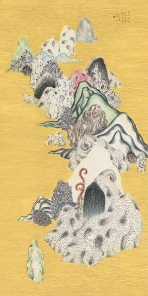 袁慧莉-類山水no.51   Ambiguous World Seriesno.51