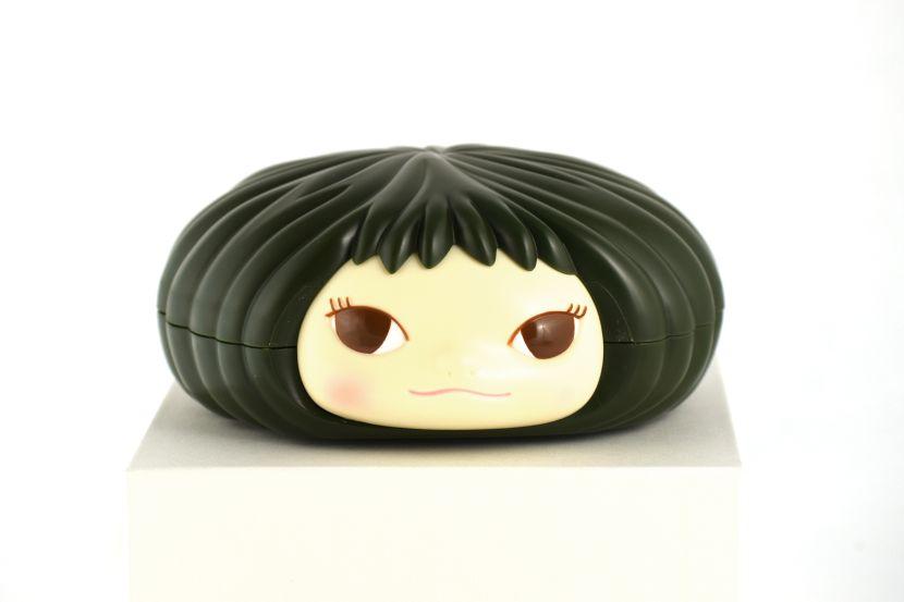 奈良美智-奈良美智糖果罐-墨綠