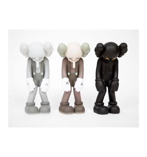 KAWS- Small Lie (Black, Grey, Brown) - SET of 3 小謊言 - 三件一組
