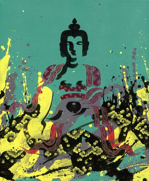 Pema Tshering-Buddhas of three times (green)