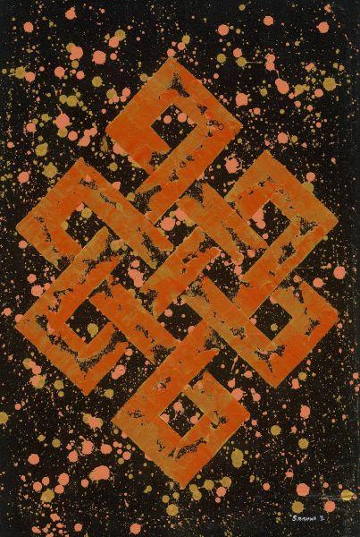 Pema Tshering-Endless Knot in orange