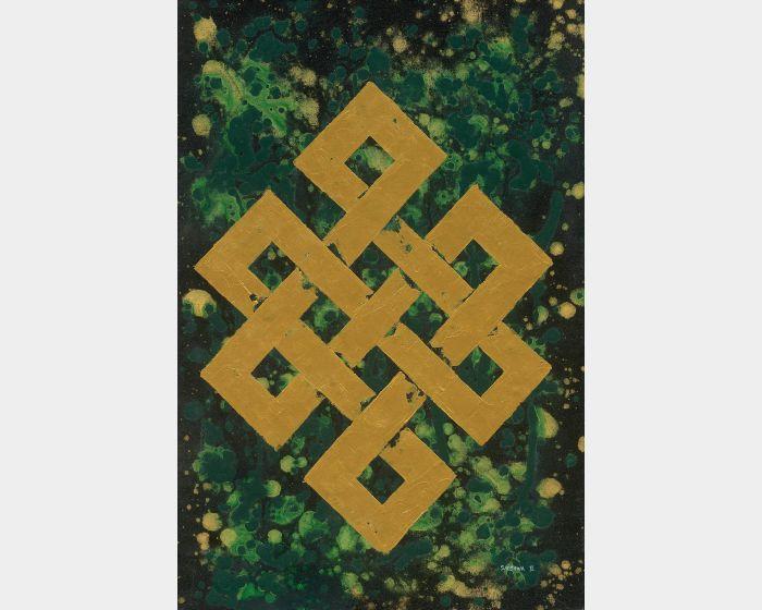 Bishwa Ⅱ-Endless Knot in Green 2145