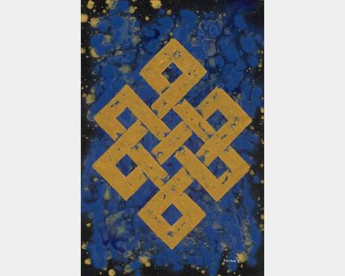 Bishwa Ⅱ-Endless Knot in Blue 2145