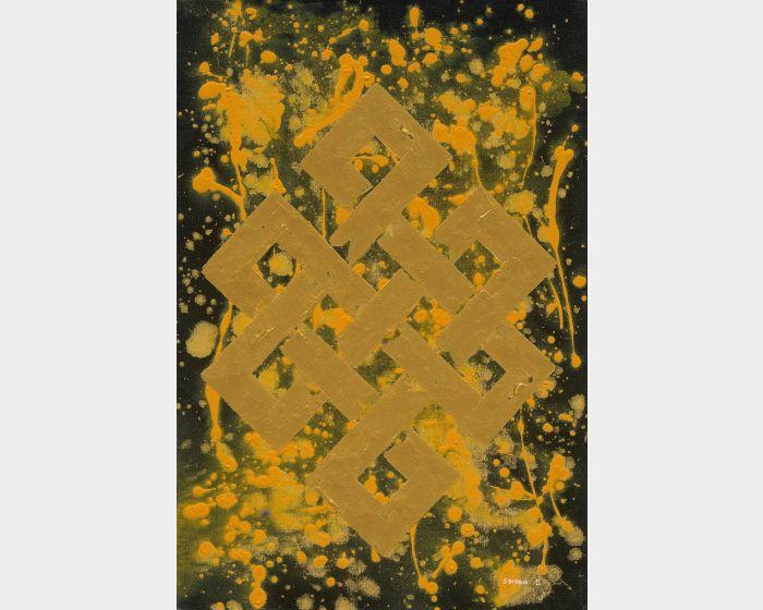Bishwa Ⅱ-Endless Knot in Yellow 2145