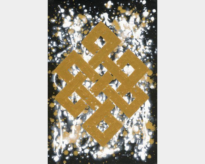 Bishwa Ⅱ-Endless Knot in White 2145
