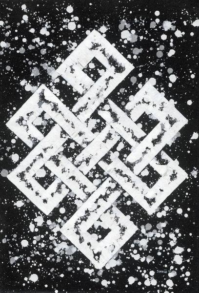 Bishwa Ⅱ-Endless Knot in white