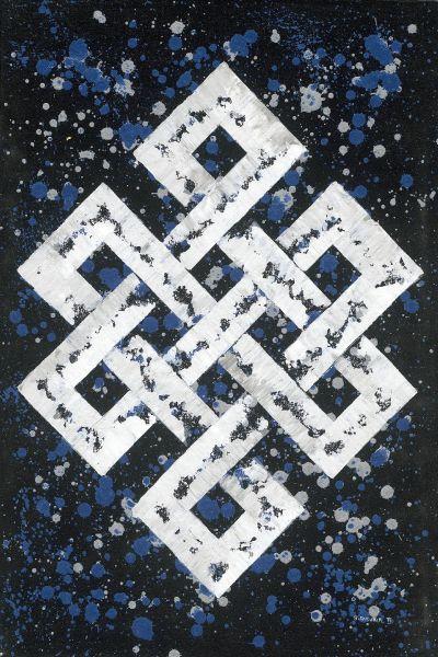 Bishwa Ⅱ-Endless Knot in blue