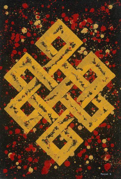 Bishwa Ⅱ-Endless Knot in red