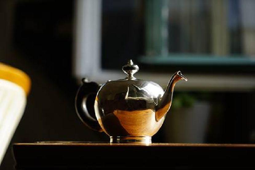 銀器-球型銀茶壺