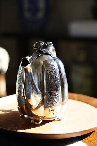 銀器-玫瑰蓋茶壺