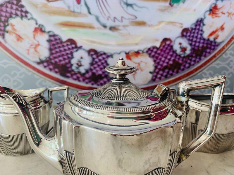 銀器-二十世紀青春風格銀壺三件組