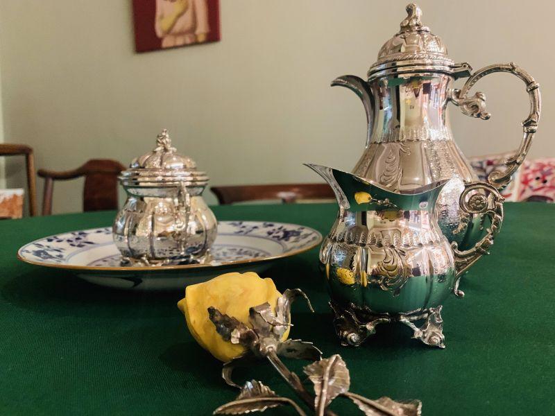銀器-二十世紀銀茶組與茶葉罐