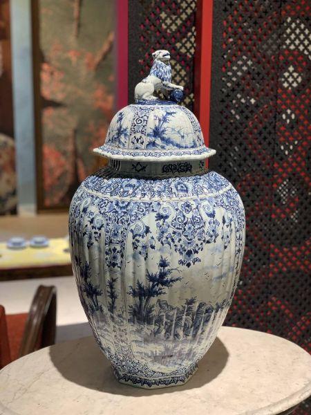瓷器-青花將軍罐