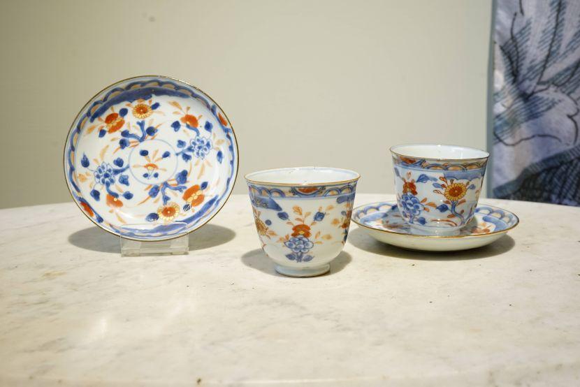 瓷器-伊萬里風格瓷杯