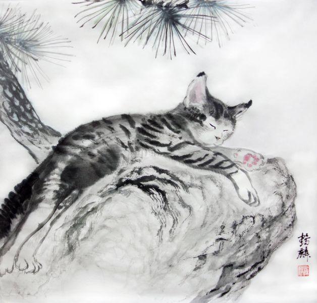 嚴鶴麟-石上眠