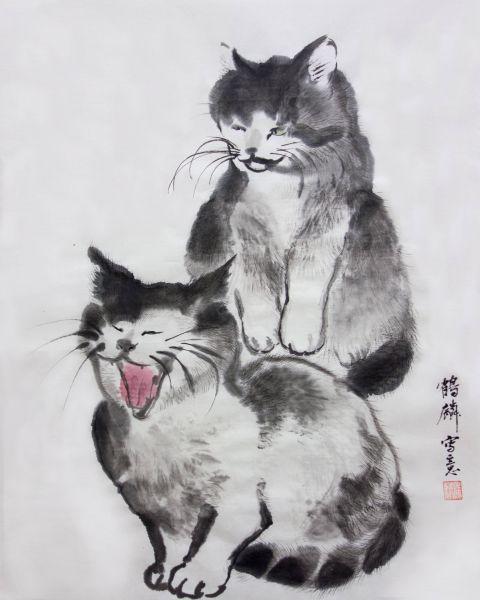 嚴鶴麟-雙貓