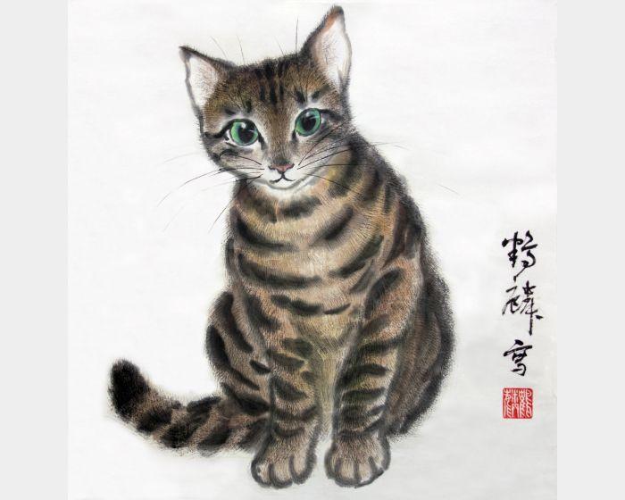 嚴鶴麟-虎紋貓