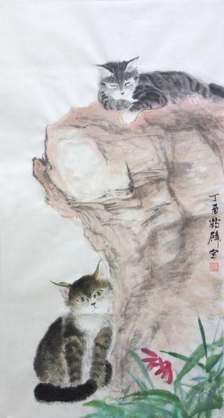 嚴鶴麟-岩倚