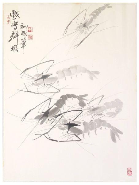 韓訓成-戲寫群蝦