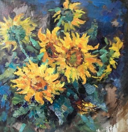 Pavel Veselkin-Sunflowers