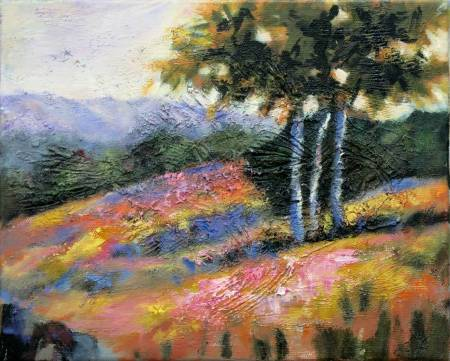 Mar - Atelier-Abstract Landscape oil painting # 4