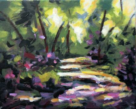 Mar - Atelier-Abstract Landscape oil painting # 2