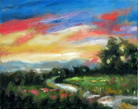 Mar - Atelier-Abstract Landscape oil painting # 3