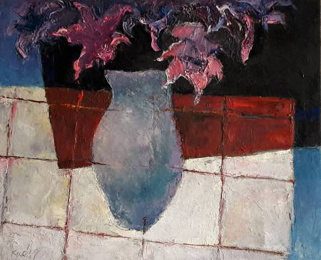 高正幸-方格桌巾上的靜物180725-2