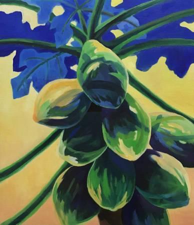 陳治宇-「物產豐隆系列」- 結實的木瓜