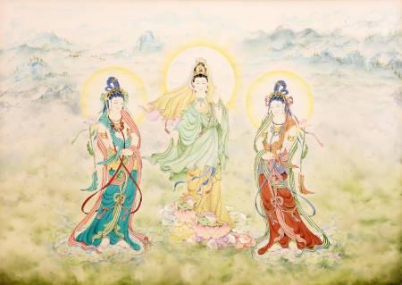 傳意菩提-華嚴會菩薩  畫師:張德怡