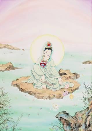 傳意菩提-清淨觀音  畫師:迴香