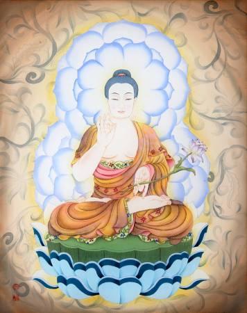 傳意菩提-阿彌陀佛  畫師:張德怡