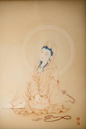 傳意菩提-觀自在 畫師:張德怡