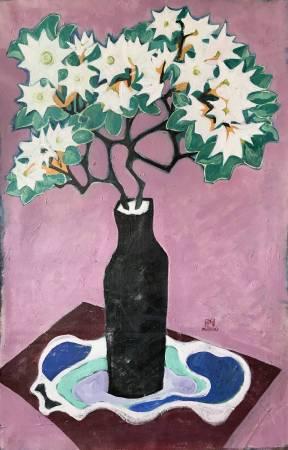 秀子-黑瓶白花