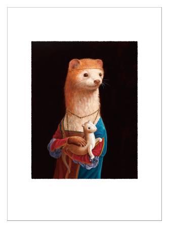 詹喻帆-拿著貂娃娃的貂少女