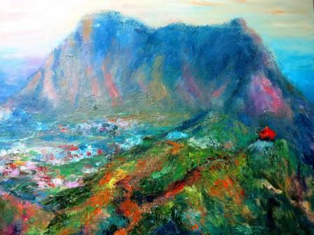 潘柏克(柏克創藝)-遠眺基隆山 Look Afar to The Keelung Mountain
