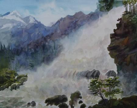 葛拉娜-Mountain Waterfall