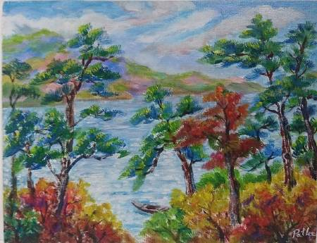 李芳時-松林湖邊