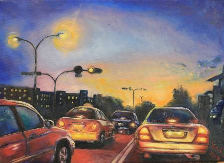 細雨 -夏日晚霞 Sunset glow at summer times